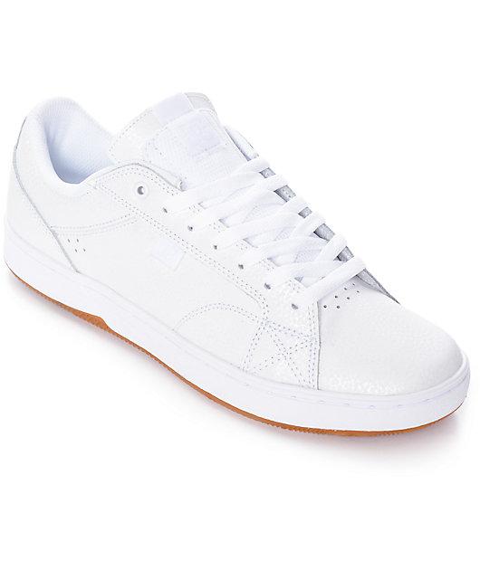 DC Astor White \u0026 Gum Nubuck Skate Shoes