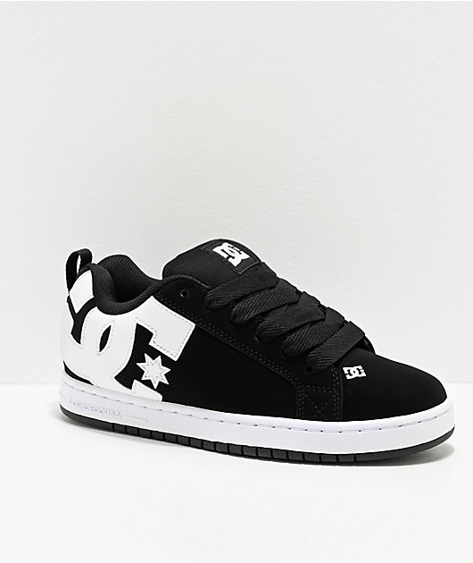 DC Court Graffik Black & White Skate Shoes