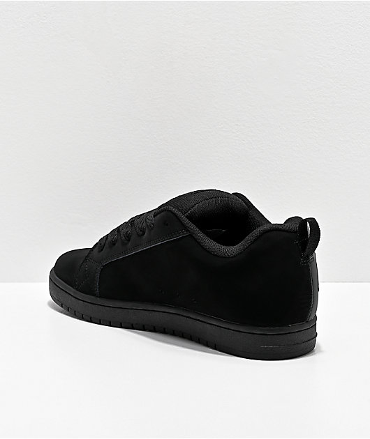 DC Court Graffik SQ Black & Grey Skate Shoes
