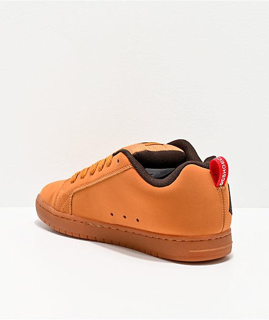 DC Court Graffik Wheat & Coffee zapatos de skate