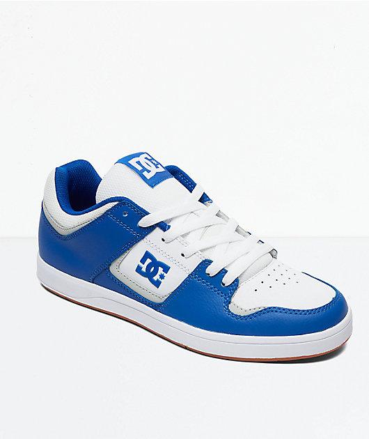 DC Cure Blue \u0026 White Skate Shoes
