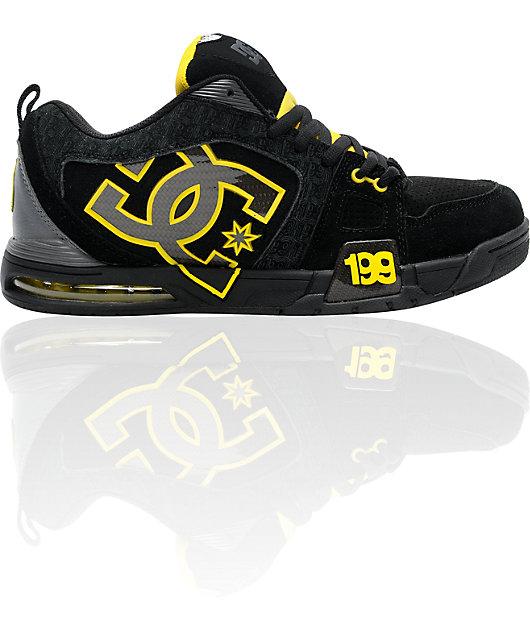 DC Frenzy TP Black \u0026 Yellow Skate Shoes