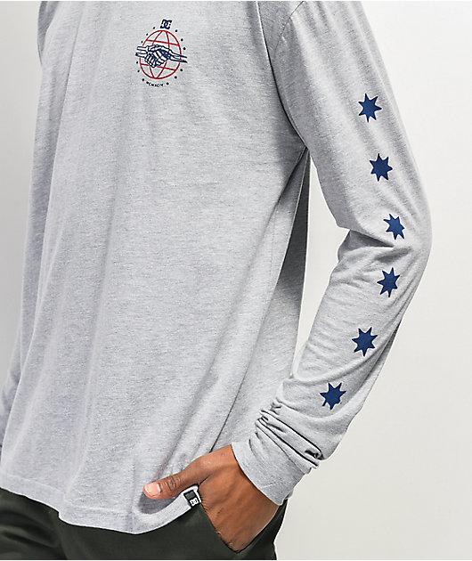 DC Greetings Grey Long Sleeve T-Shirt
