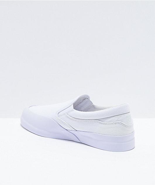 DC Infinite White Slip-On Skate Shoes