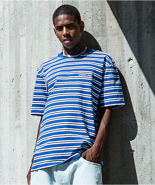 DC Jess Blue & White Stripe Knit T-Shirt