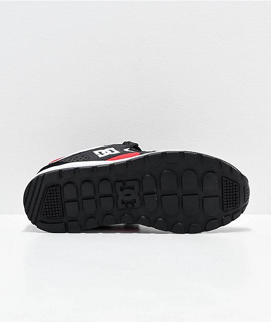 DC Kalis Lite Black & Athletic Red Shoes