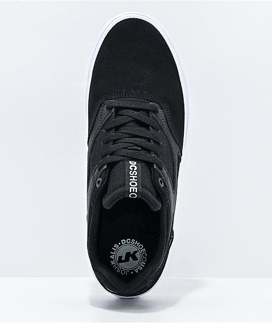 DC Kalis Vulc Black & White Skate Shoes