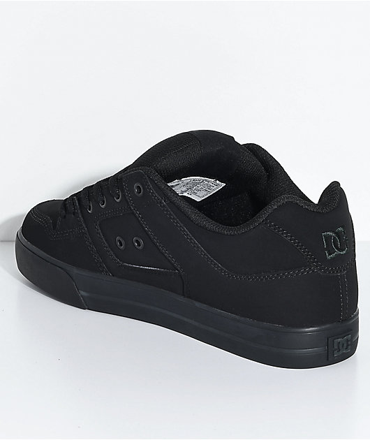 DC Pure Black & Pirate Black Skate Shoes
