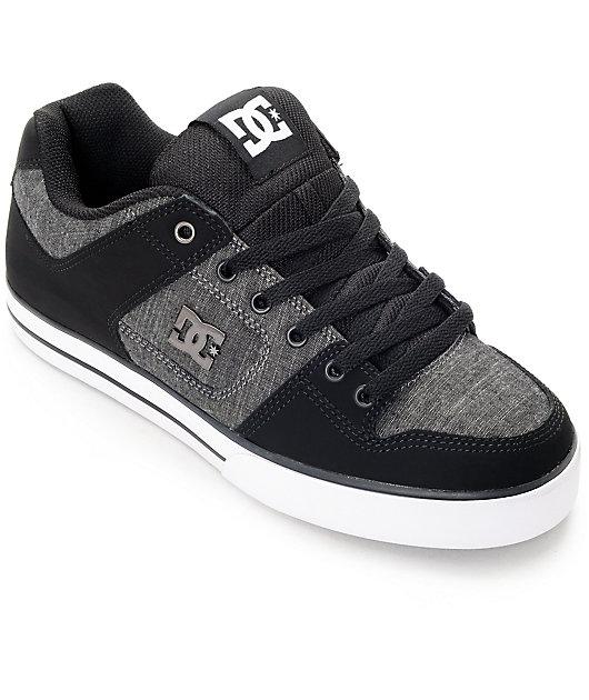DC Pure TX SE Black, Grey \u0026 White Skate