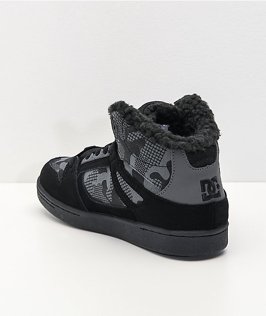 DC Pure Winter Black & Grey High Top Shoes