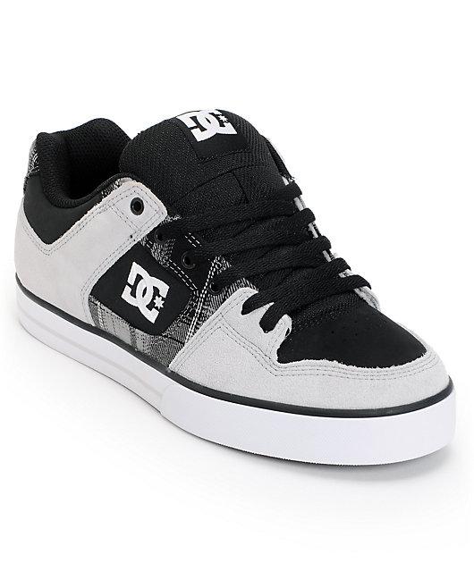 DC Pure XE Grey \u0026 Black Skate Shoes
