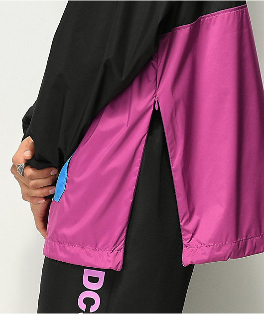 DC Sedgefield 2 Black & Purple Anorak Jacket