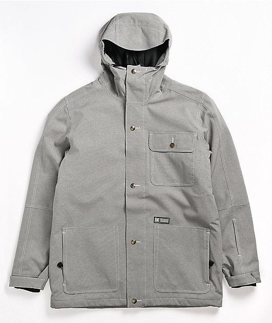 DC Servo Frost Grey 15K Snowboard Jacket
