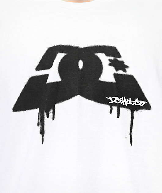 DC Spray Dip Logo White & Black T-Shirt