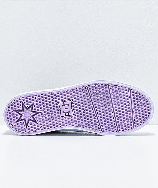 DC Trase TX zapatos de skate en gris y morado