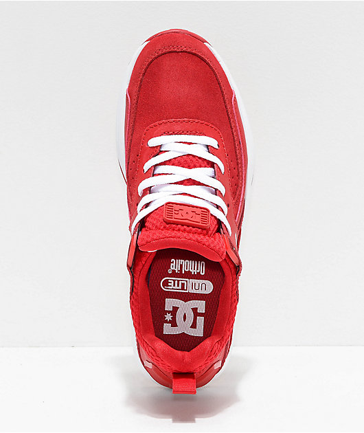 DC Vandium SE Red & White Shoes