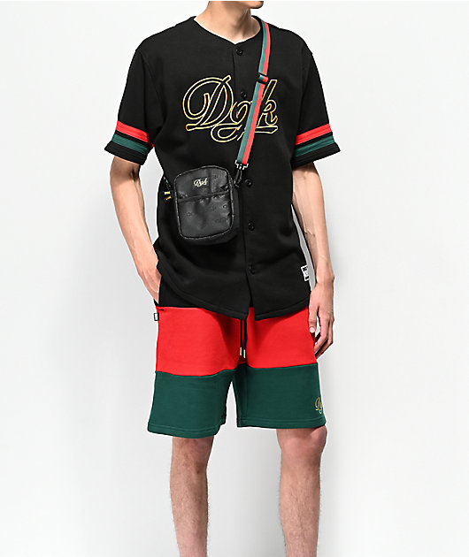 DGK Grand Black, Red & Green Sweat Shorts