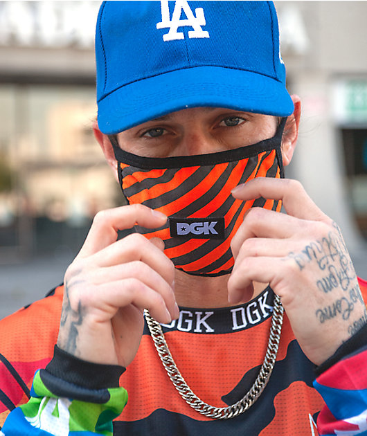 DGK Hazardous Black & Orange Face Mask