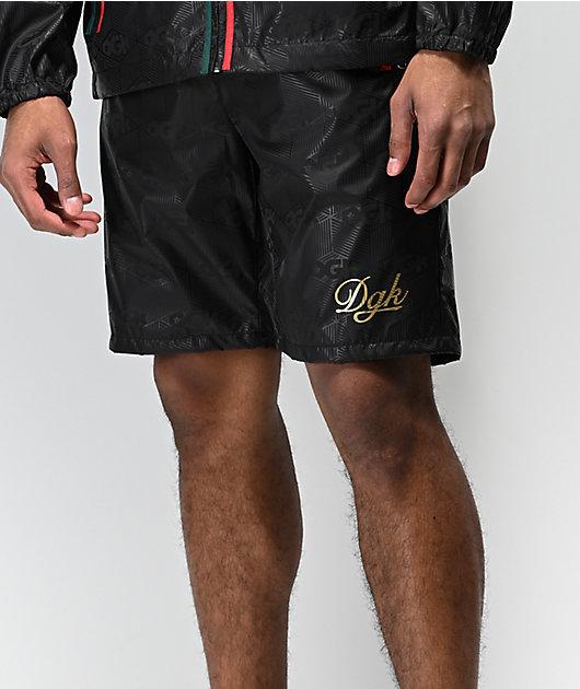 DGK Lux Swish Black Elastic Waist Shorts