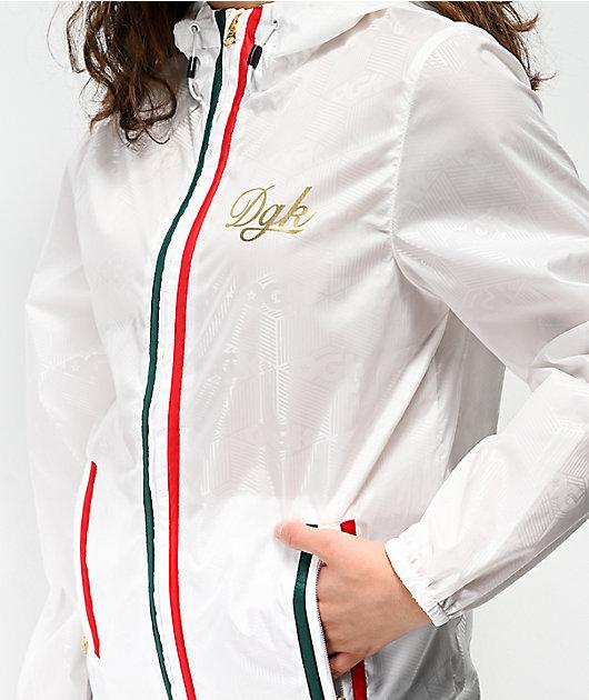 DGK Lux White Windbreaker Jacket