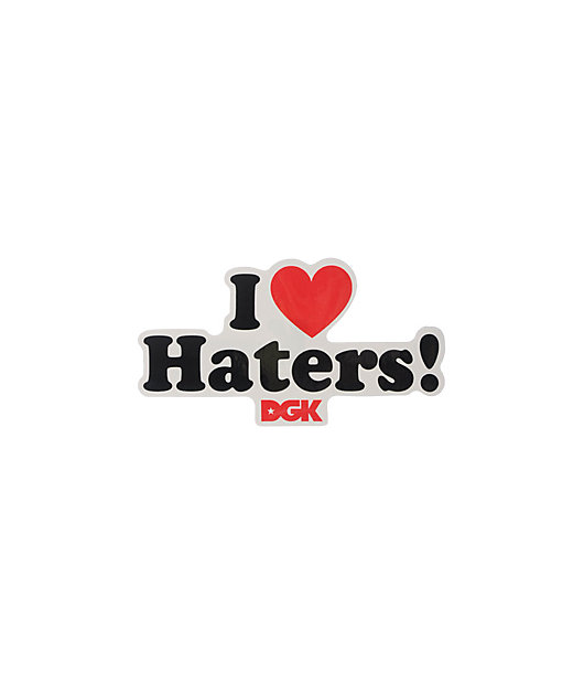 DGK Motivation I Heart Haters Sticker