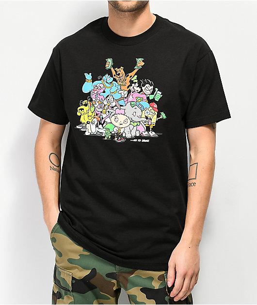 DGK No To Drugs Black T-Shirt