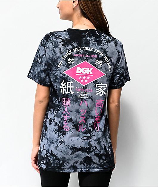 DGK Paperclub Black Tie Dye T-Shirt