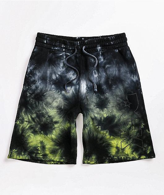 DGK Shadow Black Tie Dye Sweat Shorts