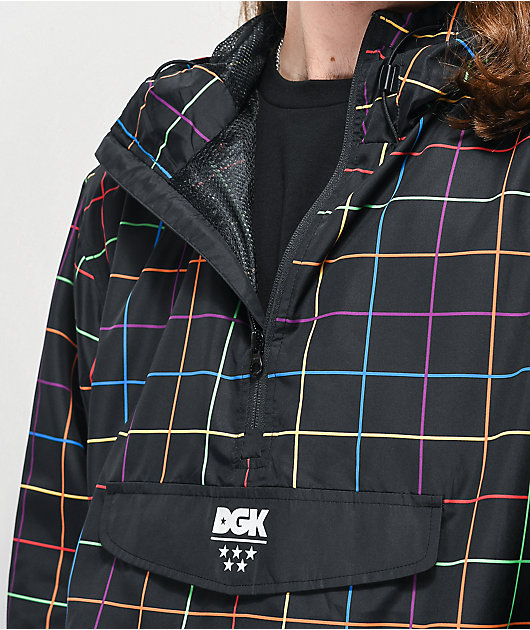 DGK Spectrum Black Anorak Windbreaker Jacket