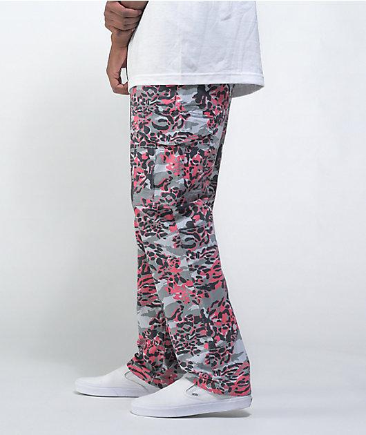 DGK Static Grey, Black, & Red Cargo Pants