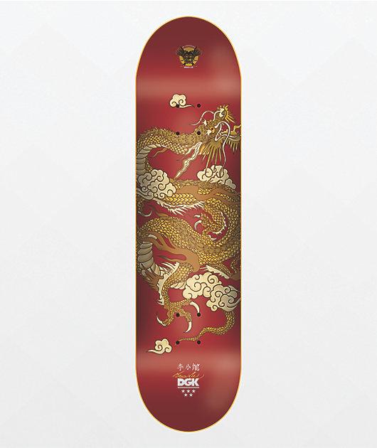 DGK x Bruce Lee Golden Dragon Red 8.0