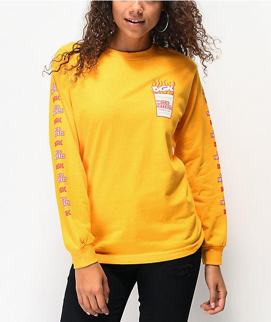 DGK x Cup Noodles Logo Gold Long Sleeve T-Shirt