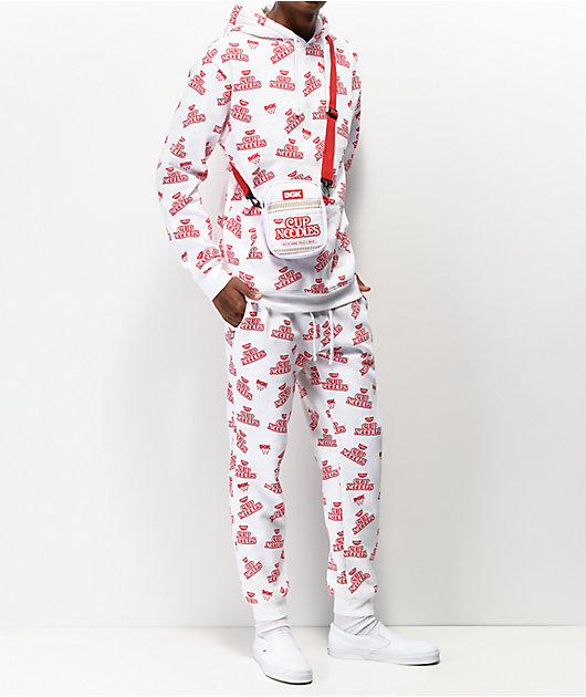 DGK x Cup Noodles White & Red Hoodie