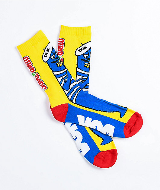 DGK x Otter Pops Louie Blue Crew Socks