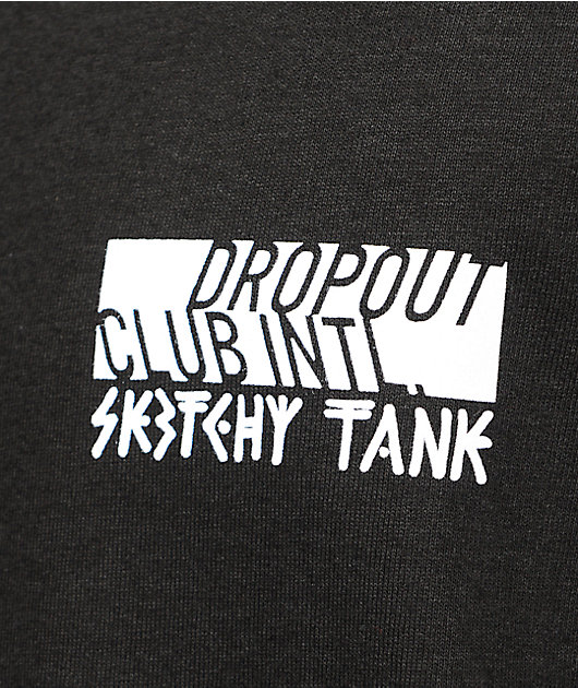 DROPOUT CLUB INTL. X Sketchy Tank Eat The Rich Black T-Shirt