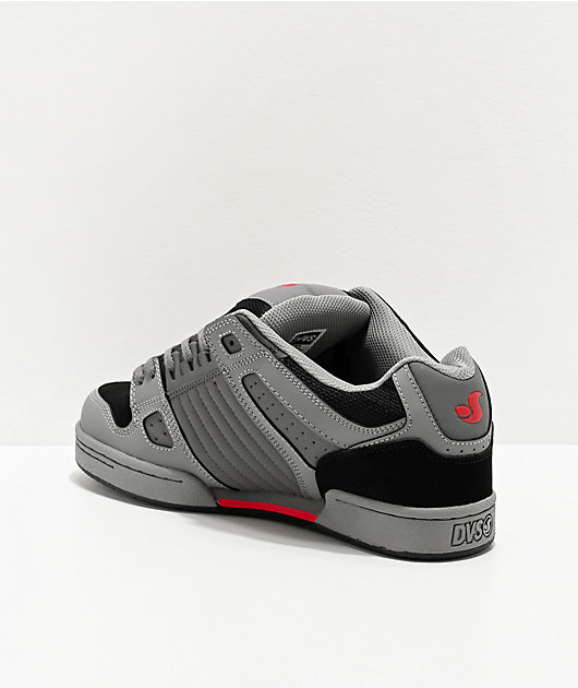 DVS Celcius Charcoal Grey, Red & Black Skate Shoes