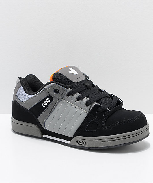 DVS Celsius Grey & Black Nubuck Skate Shoes