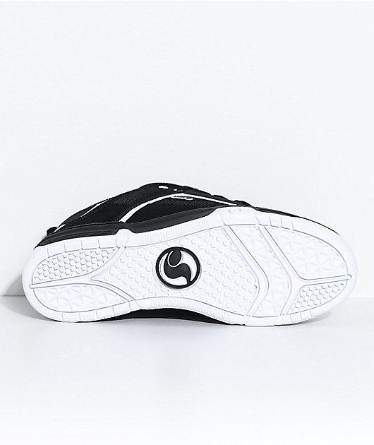 DVS Comanche Black & White Nubuck Skate Shoes