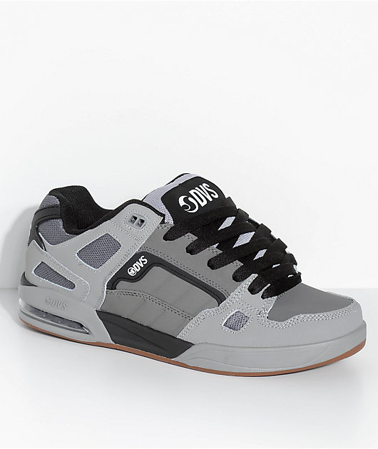 DVS Drone Charcoal \u0026 Grey Leather Skate