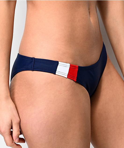 Damsel Colorblock braguitas de bikini en azul marino
