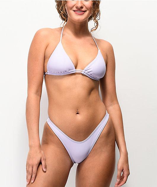 Damsel Pixie braguitas de bikini de bikini de color lavanda