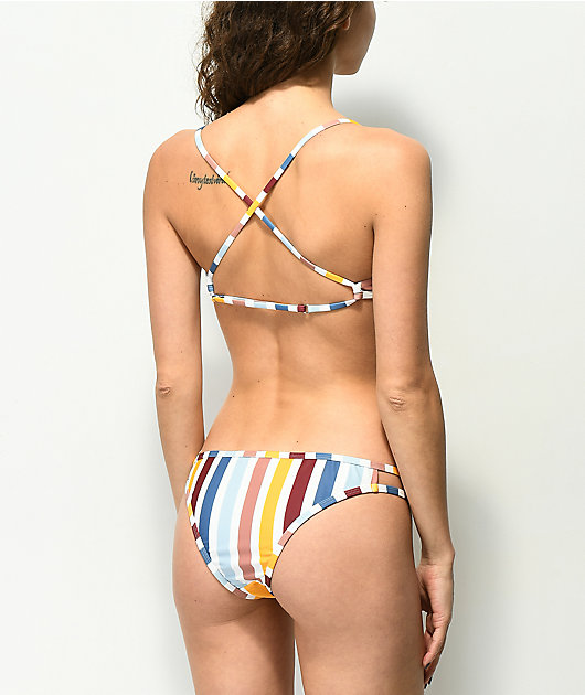 Damsel Roman Stripe Cheeky Bikini Bottom
