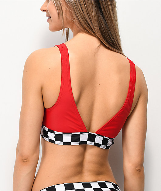 Damsel Tana Checkers Red Bikini Top