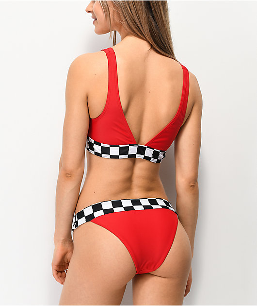 Damsel Tana Checkers Red Cheeky Bikini Bottom