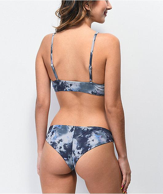 Damsel Tara Black Tie Dye Super Cheeky Bikini Bottoms