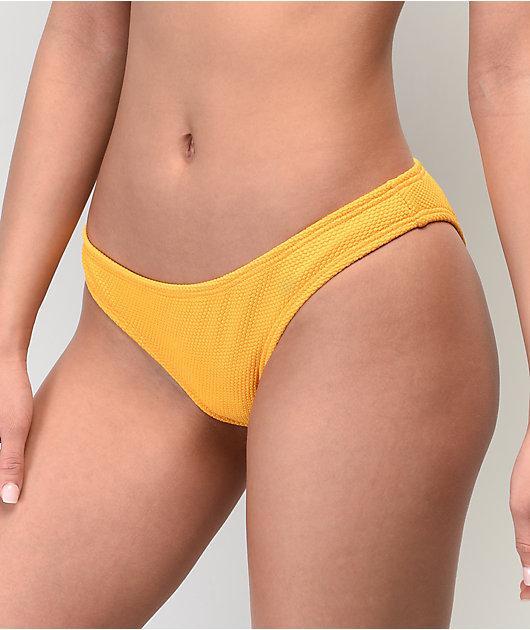 Damsel Tuscan Pique Yellow Cheeky Bikini Bottom
