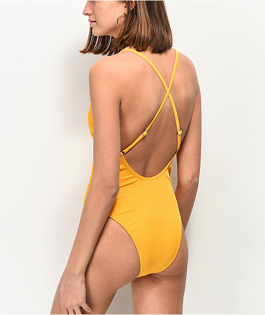 Damsel Tuscon Ribbed Button Up One Piece Swimsuit