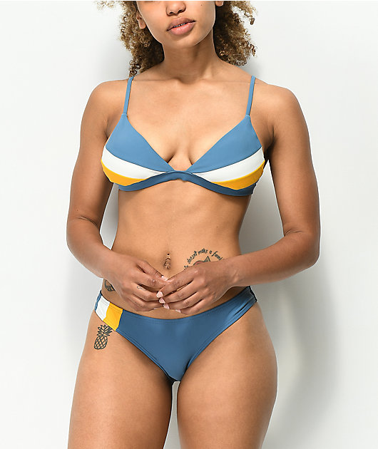 Damsel Winterfell Colorblock Triangle Bikini Top