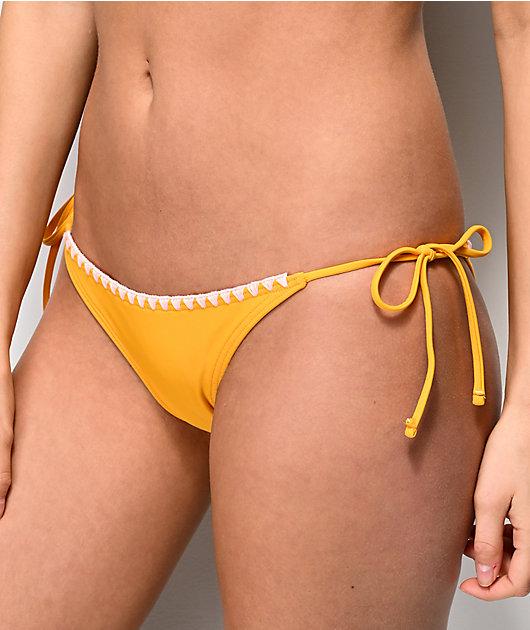 Damsel braguitas de bikini amarillas