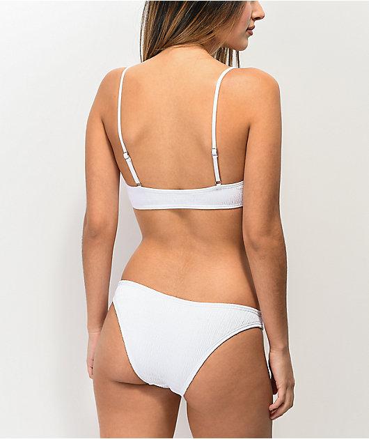 Damsel braguitas de bikini blancas texturizadas